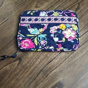 Vera Bradley Navy Case Bag/ Book Case/Cosmetic Bag